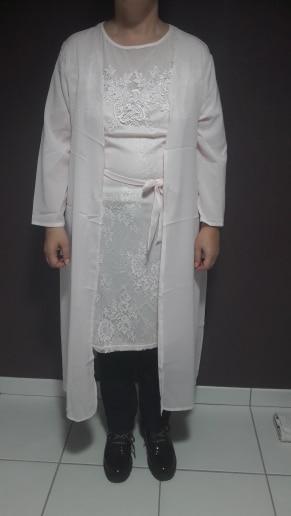 Summer Autumn Dress Women Casual Plus Size Slim Office Bodycon Dresses Sexy Elegant Hollow Out Lace Party Dress Cloak Set photo review