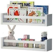 Decomira Çocuk Odası Kitaplık Duvar Rafı Hemşire Duvar Raf Eğitici Kitaplık Duvara Monte Raf Kitaplık Beyaz Duvar Rafı 2 Set