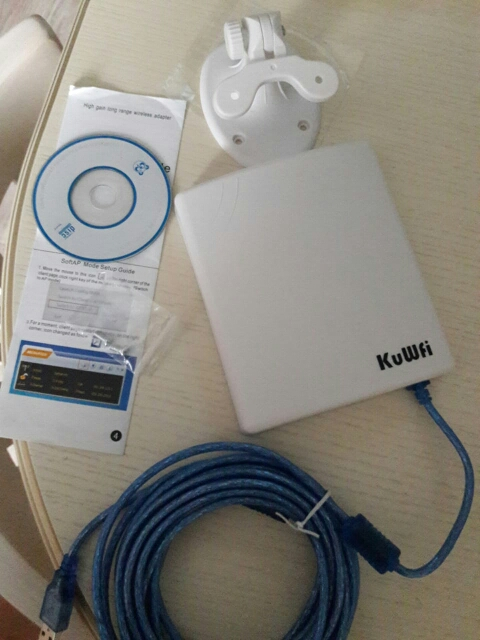 KuWfi Antenna USB WiFi adapter 150Mbps Access point AP 14dBi Cable 5m