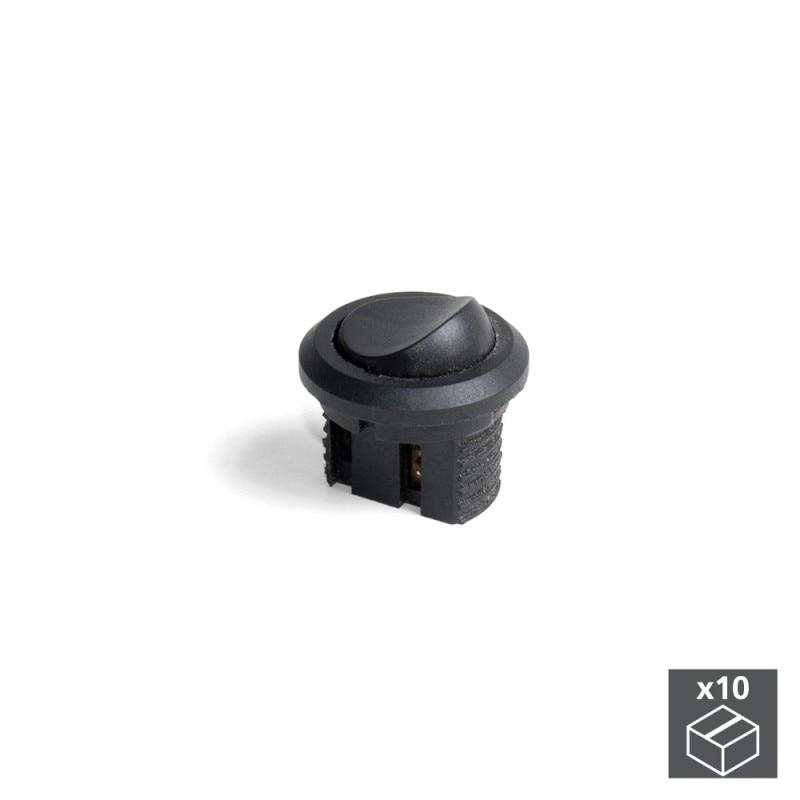 Lot Of 10 Switches Emuca Recessed Black Plastic