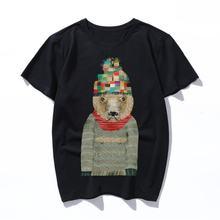Рубашка rvin Женская/мужская с принтом Повседневная футболка