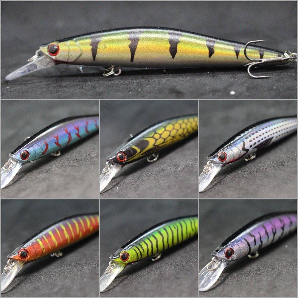 WLure 13.5g 11.4cm Running Weight Transfer For Long Distance Throwing Floating Lure Jerkbait For Twitch 2 #4 Treble Hook M673
