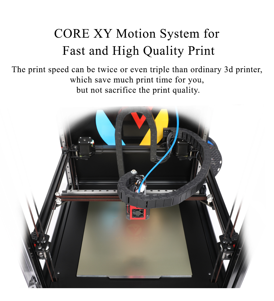 Vivedino Core XY Flying Print 3D Printer