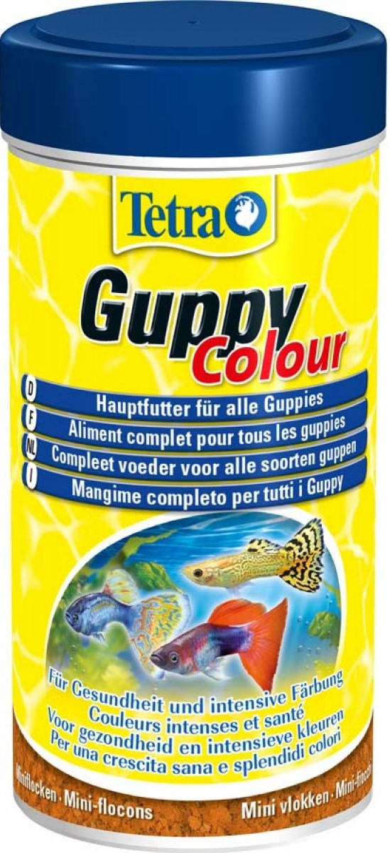 Tetra Guppy Colour (mini-flakes) For All Kinds Of Guppies, 100 Ml.