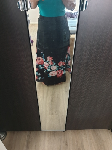 Floral Print High Waist Maxi Skirt Womans Elegant Ladies Long Flower Pleated Vintage Skirts Style Female Skirts photo review