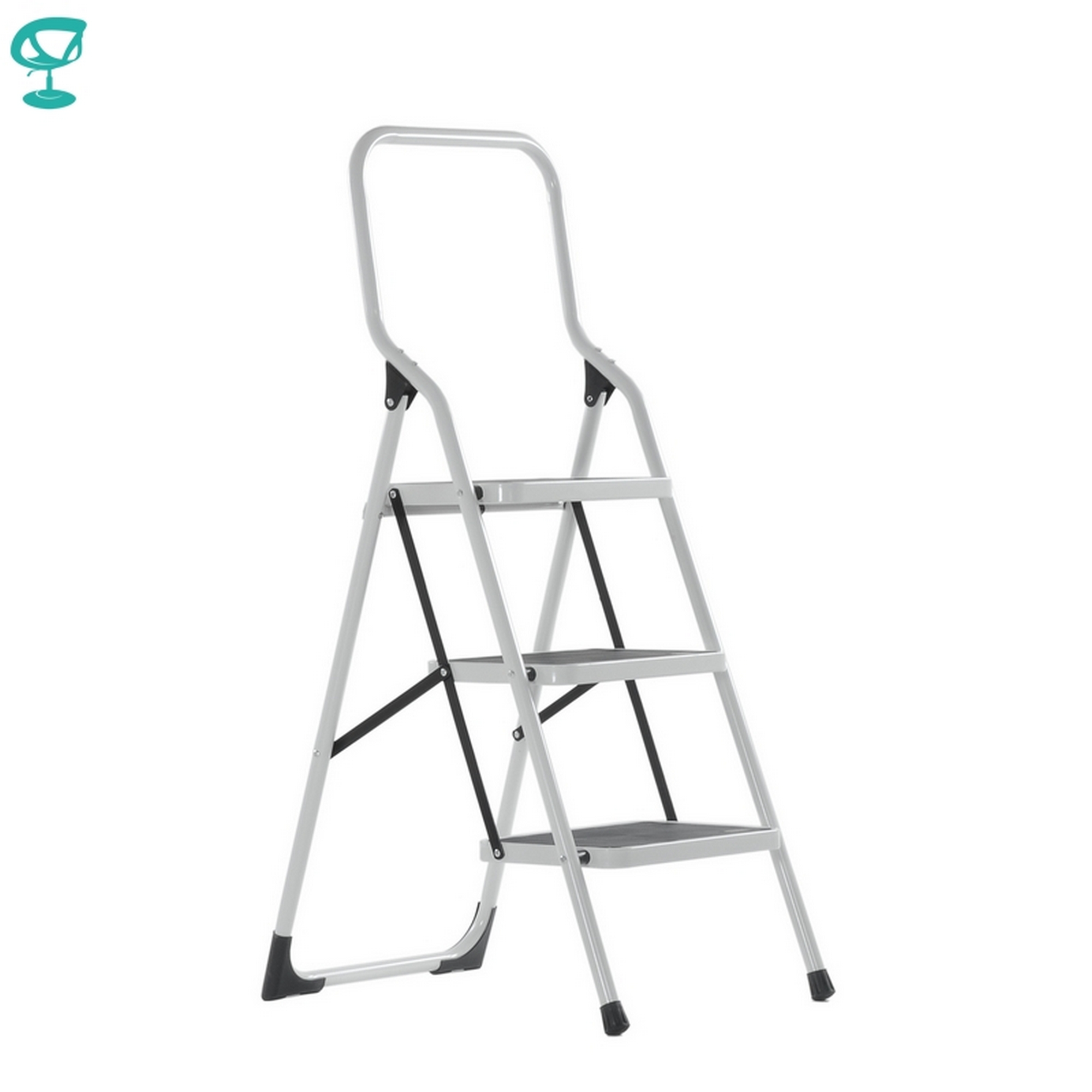 95670 Barneo St-13 Ladder Steel 3 Stage White Single Side Max Load 150 Kg Free Shipping To Russia