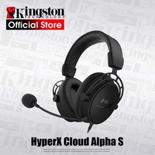 Kingston HyperX bulut alfa S oyun kulaklığı 7.1 surround ses E spor kulaklık bir mikrofon ile PC ve PS4