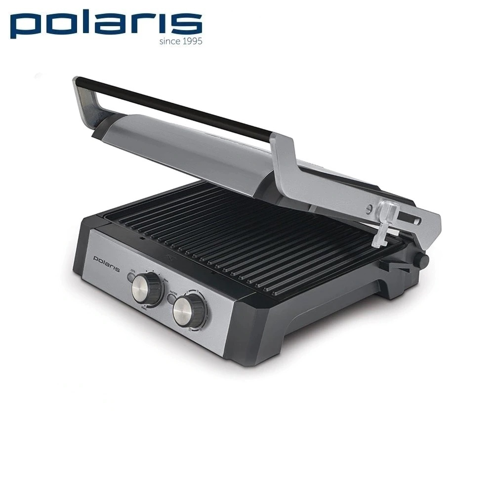 Electrical Grill Polaris PGP 1302 Expert home kitchen appliances Lazy barbecue Grill electric электрогриль polaris pgp 0903 графит