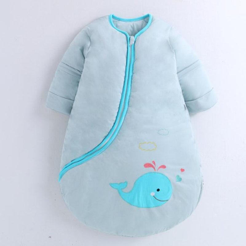 Baby Sleeping Bag Cotton Full Sleeve Child Sleeping Bag Blue And Pink Sleep Sack 80cm And 100cm