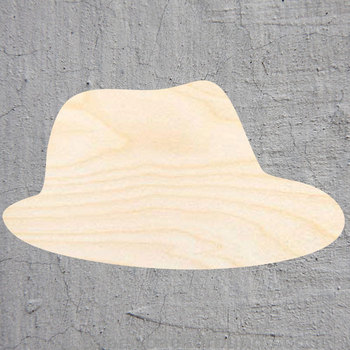 fedora silhouette Laser Cut Out Wood Shape Craft Supply Unfinished Cut Art Projects Craft Decoration