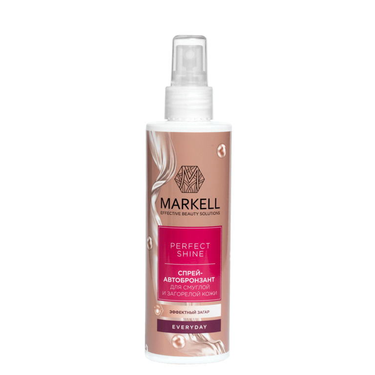 Markell perfect shine spray-автобронзант body (for смуглой skin), 200 ml