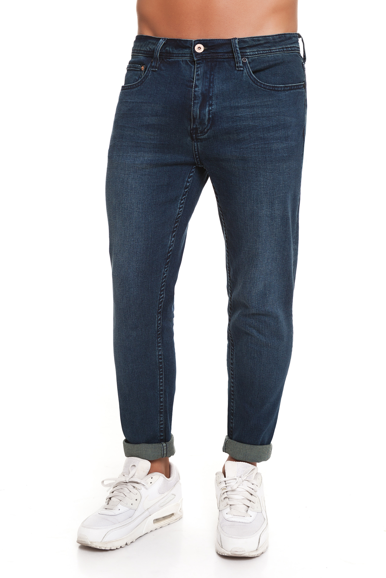 CR7 Jeans For Men Dark Blue Jeans Casual Casual Super Skinny Pockets CRD027D