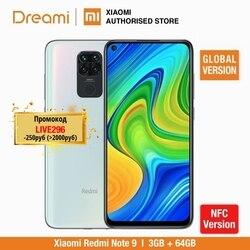Wersja globalna Xiaomi Redmi Note 9 3GB RAM 64GB ROM NFC (fabrycznie nowe/uszczelnione) redmi note9  note9  Smartphone mobile