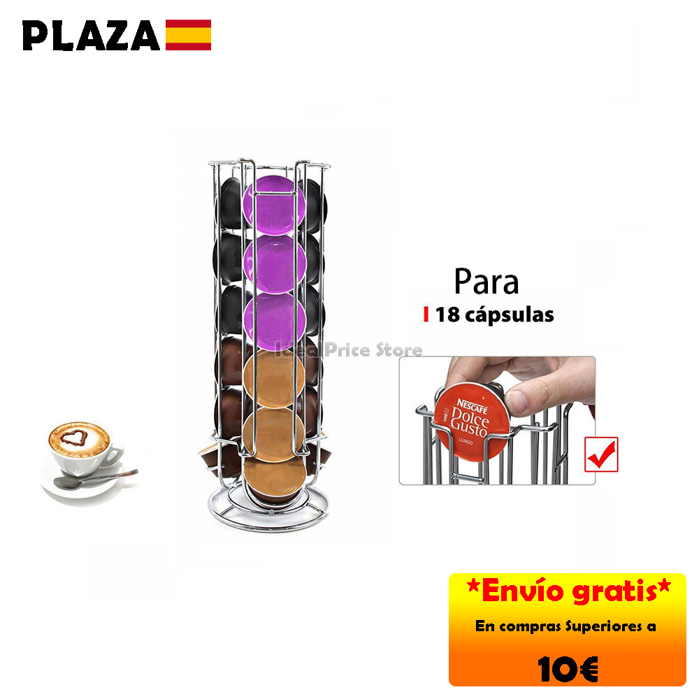 HOME®Soporte para capsule Compatible for Dolce Gusto coffee capsule (18 PCs)
