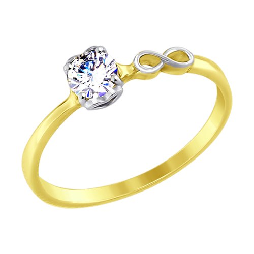 SOKOLOV Ring Yellow Gold With Cubic Zirconia