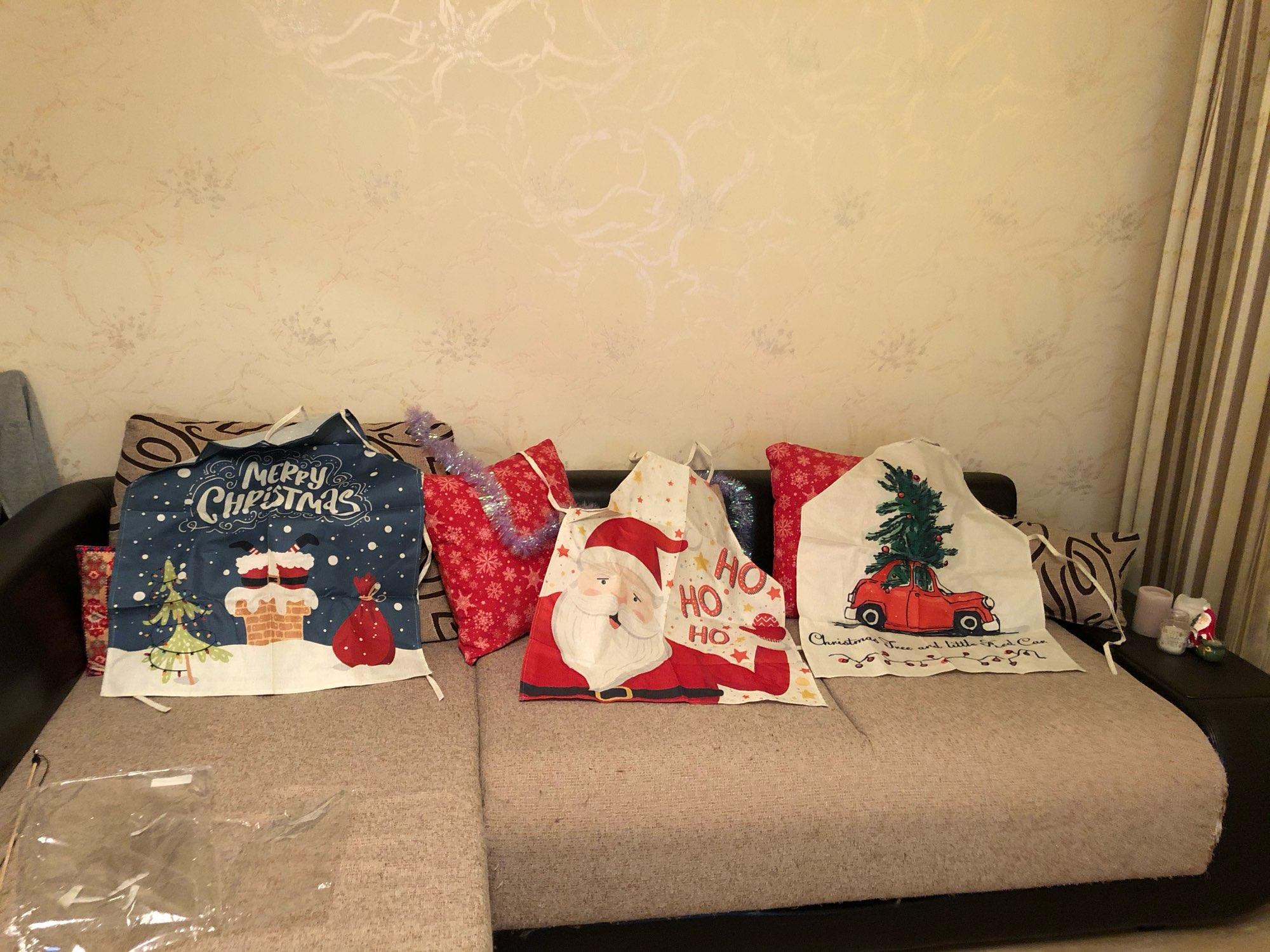 Christmas Designs Kitchen Apron photo review