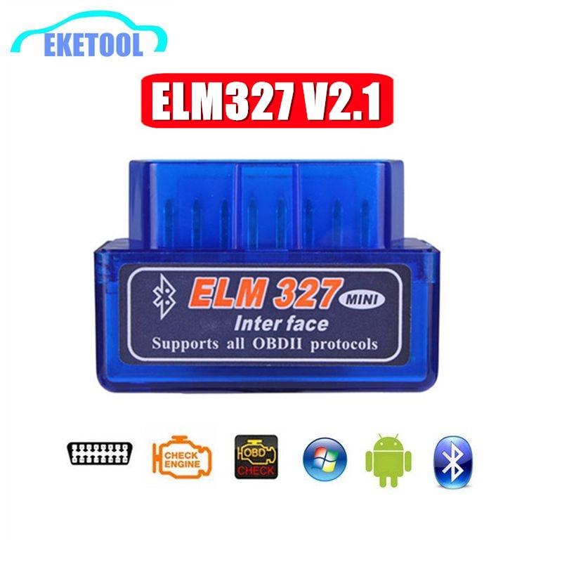 ELM327 V2.1 Bluetooth OBD OBD2 lector de código CAN-BUS compatible con coches multimarcas ELM 327 BT V2.1 funciona con Android/PC C