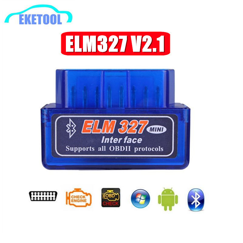 ELM327 V2.1 <font><b>Bluetooth</b></font> OBD OBD2 Code Reader CAN-BUS Supports Multi-Brand Cars Multi-Language <font><b>ELM</b></font> <font><b>327</b></font> BT V2.1 Works Android/PC C image