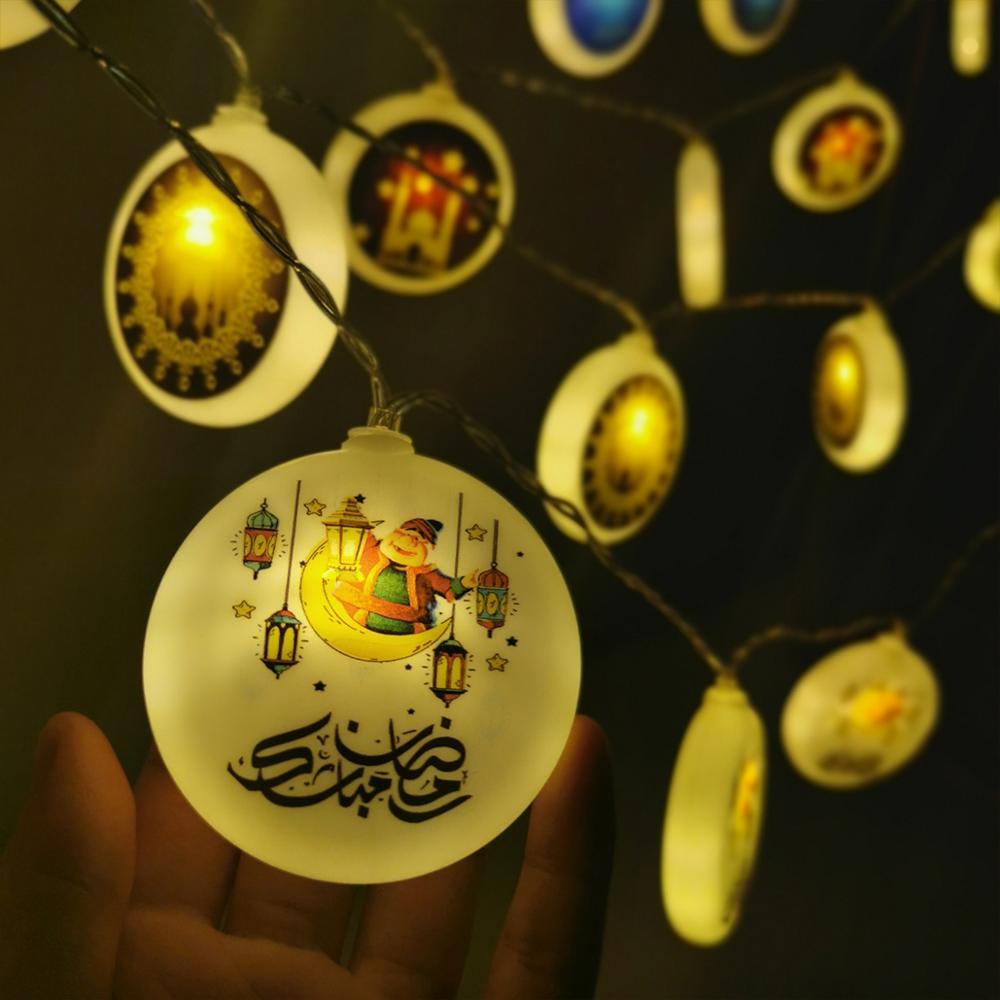 3 м Рамадан лампы Happy ИД Мубарак Декор огни украшения для Рамадана для дома Ид аль-Адха Ислам мусульманских праздничные вечерние поставки
