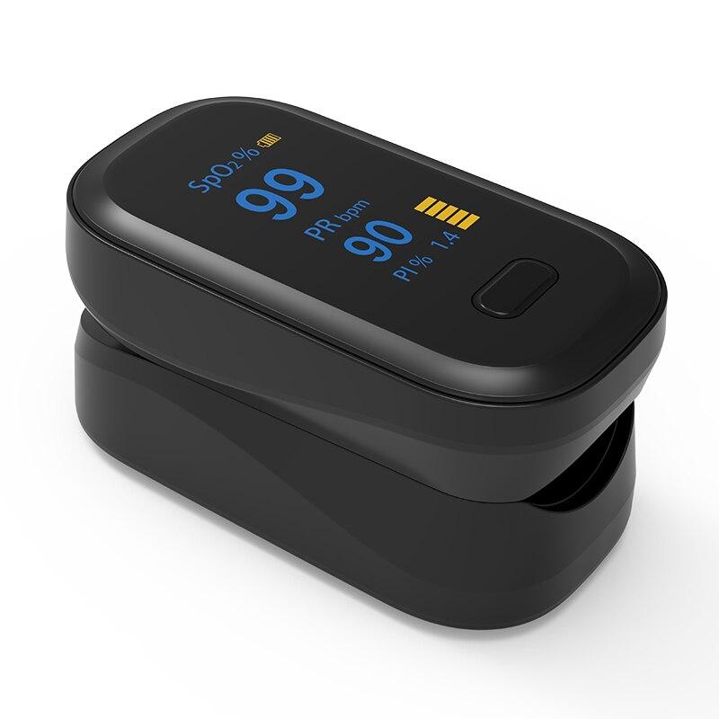 Пульсоксиметр Пальчиковый SPO2 PR, цифровой измеритель пульса и уровня кислорода в крови, с OLED экраном пульсоксиметр на палец оксиметр на Пале...
