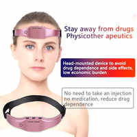 Head Massager Low Frequency Pulse Stimulate Stress Relief brain stimulator Sleep Therapy Device Sleeping Aid Massage Helmet