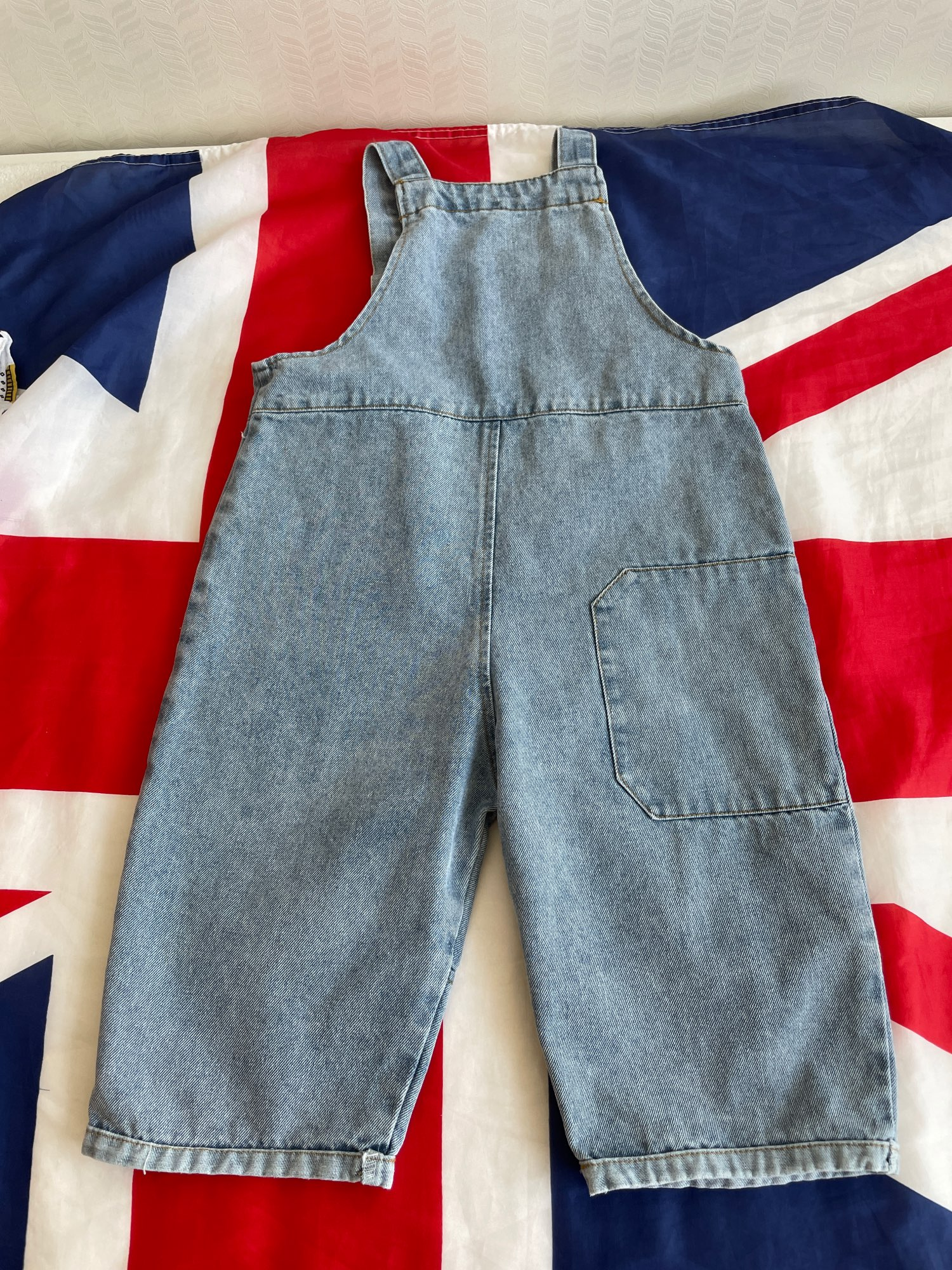 2021 New Children Loose Overalls boys girls casual all-match denim Trousers Spring Solid Outwear 1-7Y Kids fashion bib pants photo review