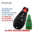 GQ4-53T 433 МГц 7961 м 4A чип Fobik дистанционный ключ для Jeep Cherokee 2014 2015 2017 2018 2019 P/N 68105083 AC AD AE AF AG