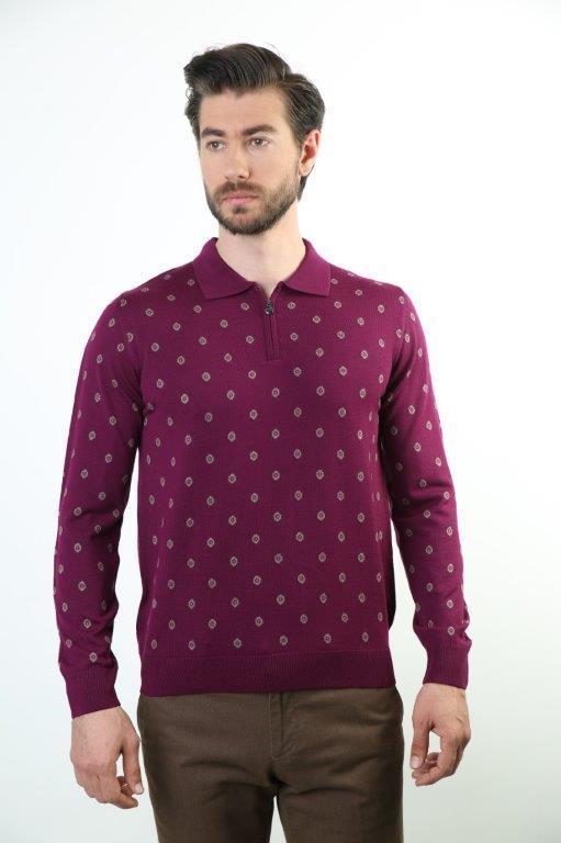 Sweater Polo Collar Men 'S Wool Sweater 5225
