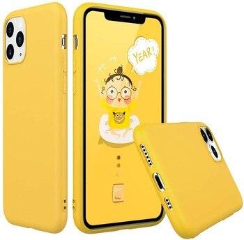Funda Goma Pastel para Samsung A51 5G Amarillo