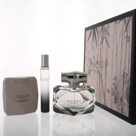 GUCCI EDP BAMBOO SPRAY 100ML 75ML + BODY LOTION + ROLLER BALL 7,4ML