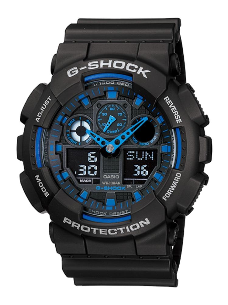 Watch G-Shock Casio Analog-Digital Blue Dial Sport Sport-Ga-100-1a2dr Men's
