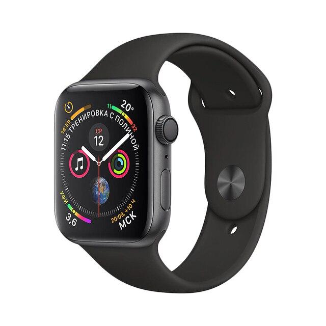 Умные часы Apple watch S4, ремешок для спортивных часов 44 мм