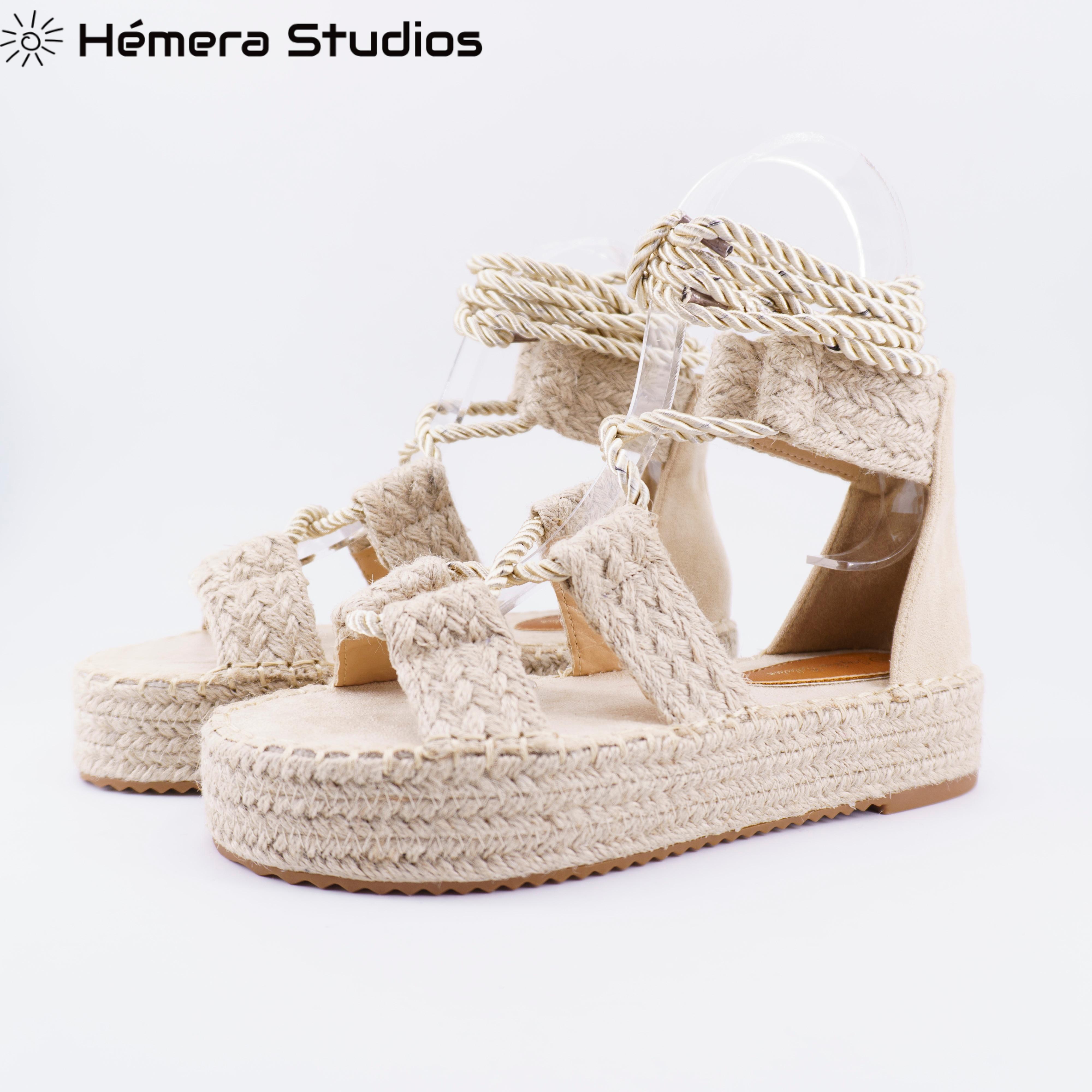 Woman 2019 Platform SUMMER-ESPARTOS-ESPARTO Sabot's Cam Buckle Platform Sandals