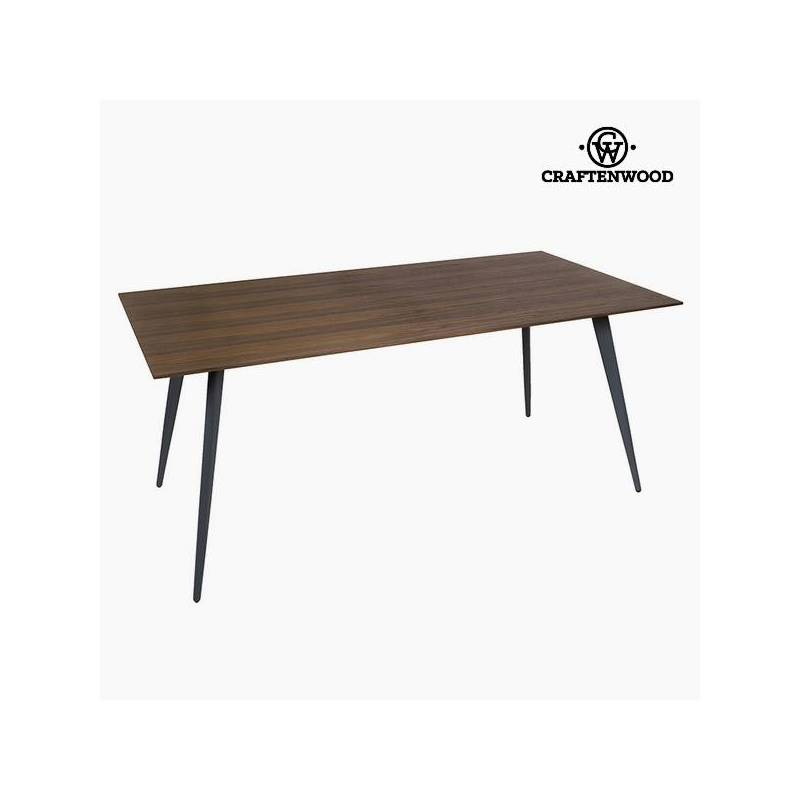 Dining Table Mdf Walnut (180x90x75 Cm) By Craftenwood