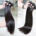 Малазийские полностью натуральные черные прямые волосы 1/3/4, дешевые 100% человеческие волосы для наращивания, двойное плетение без поврежден...