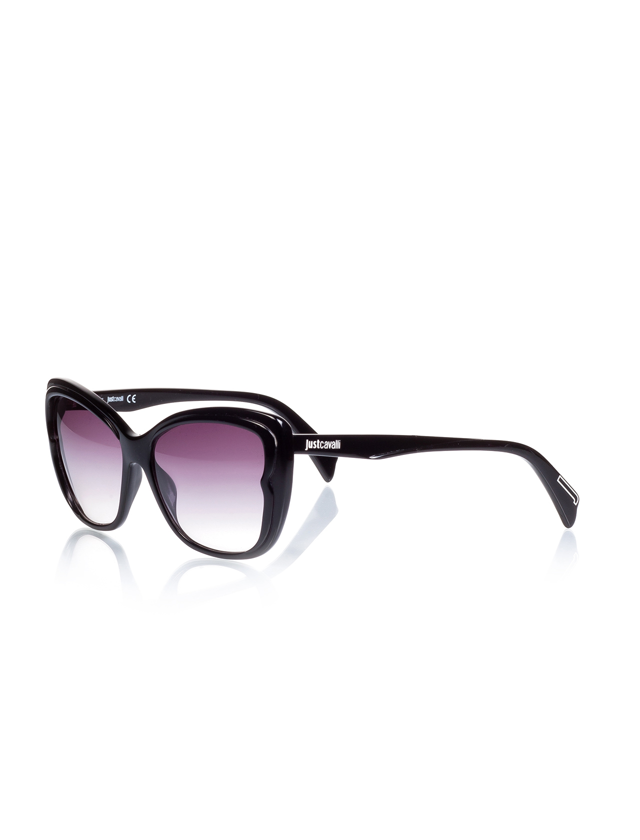 Women's sunglasses jc 719 01a bone black organic oval aval 58-16-140 just cavalli