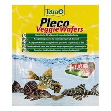 Корм для рыб TETRA Pleco Veggie Waffers пластинки с добавлением цукини для донных рыб 15г