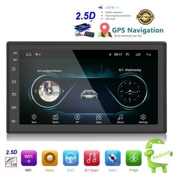 цена на OLOMM 2.5D Android 2din Car Multimedia MP5 Player Radio GPS Navi WIFI Autoradio 7'' Touch Screen Bluetooth FM Audio Car Stereo