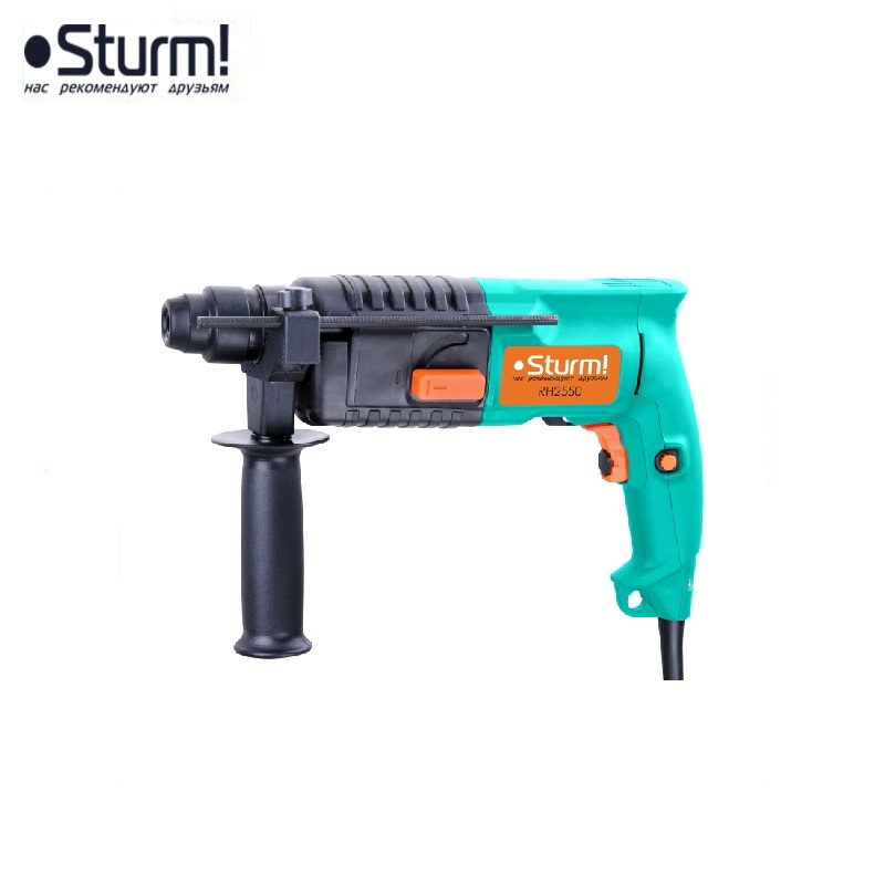 RH2550 Sturm rotary hammer, 600 W, 2 modes, 0-3900 bpm, 0-850 rpm  Jackhammer Drilling and Grooving operation Drilling id2195p hammer drill pros sturm 1000 w 0 2700 rpm 0 45900 bpm percussion drill boring hammer drilling in concrete