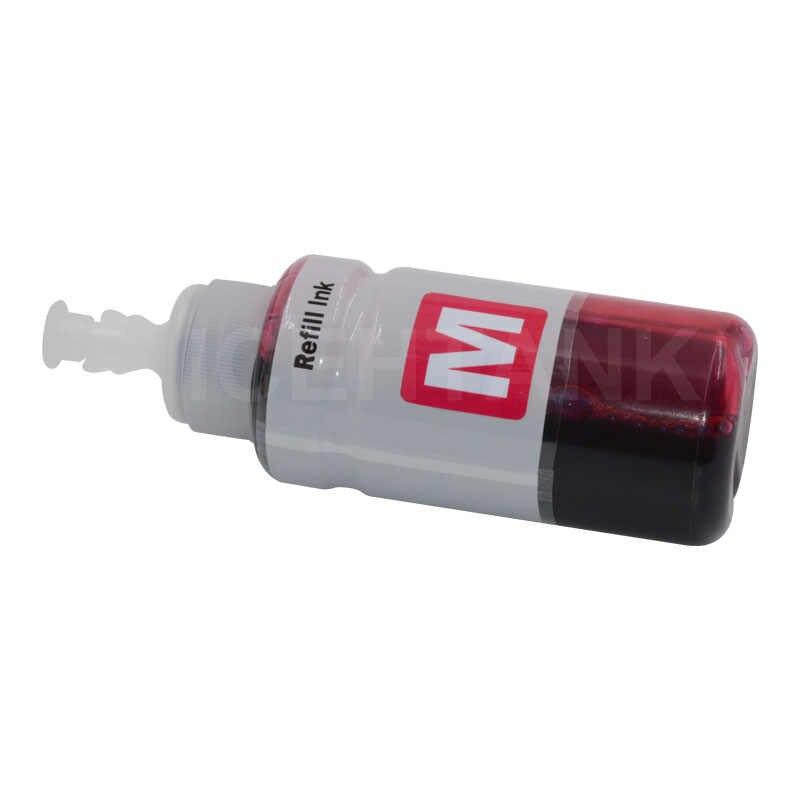 ICEHTANK 4 * botella de 70ml de tinta Kits de recarga tinta de impresora para Epson L366 L550 L555 L566 L100 L110 L132 L200 L210 L222 L300 L362