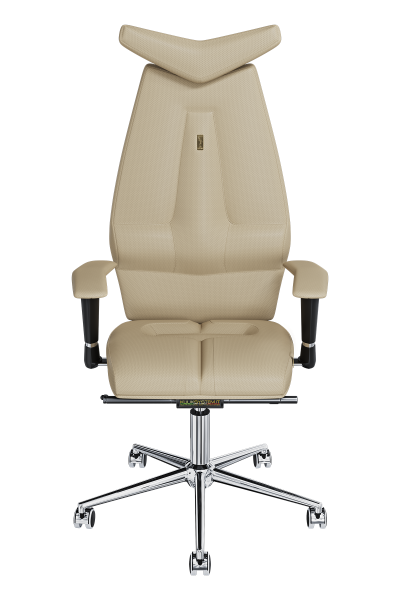 Office Chair KULIK SYSTEM JET Beige Computer Chair Relief And Comfort For The Back 5 Zones Control Spine
