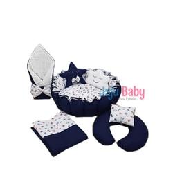Jaju Baby Navy Blue Captain Patterned Set Design Luxury Play Mat Babynest