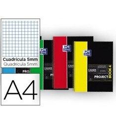 Блокнот спиральный Оксфордский пластиковый колпачок микроперфорированный PROJECTBOOK4 DIN A4 100 листов 90 столов 5 мм цветов