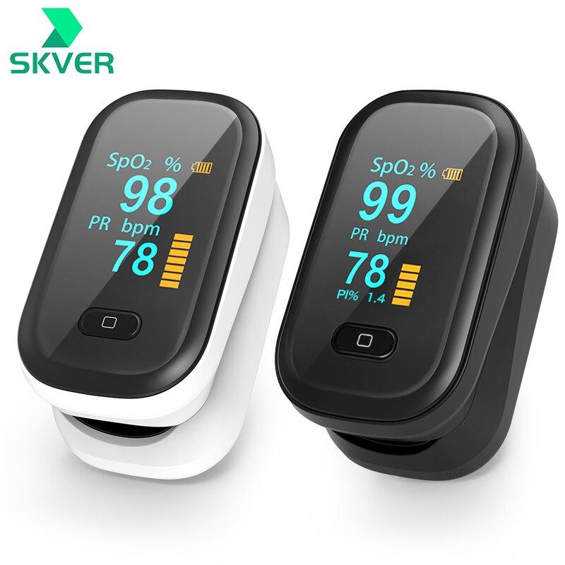 пульсоксиметр на палец оксиметр на Палец пульсометр на палец SpO2 PR, миниатюрный измеритель пульса и уровня кислорода в крови, с OLED экраном