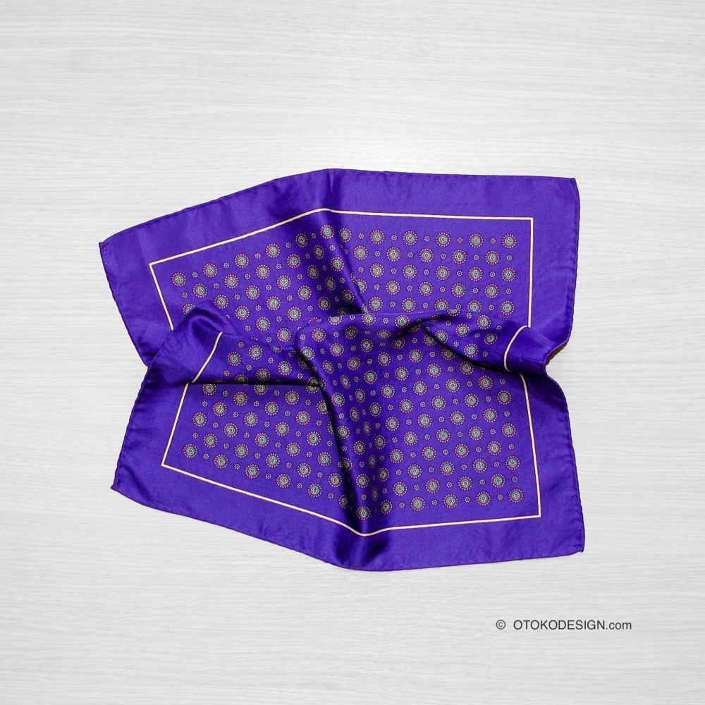 Silk Pocket Square Purple (50932)