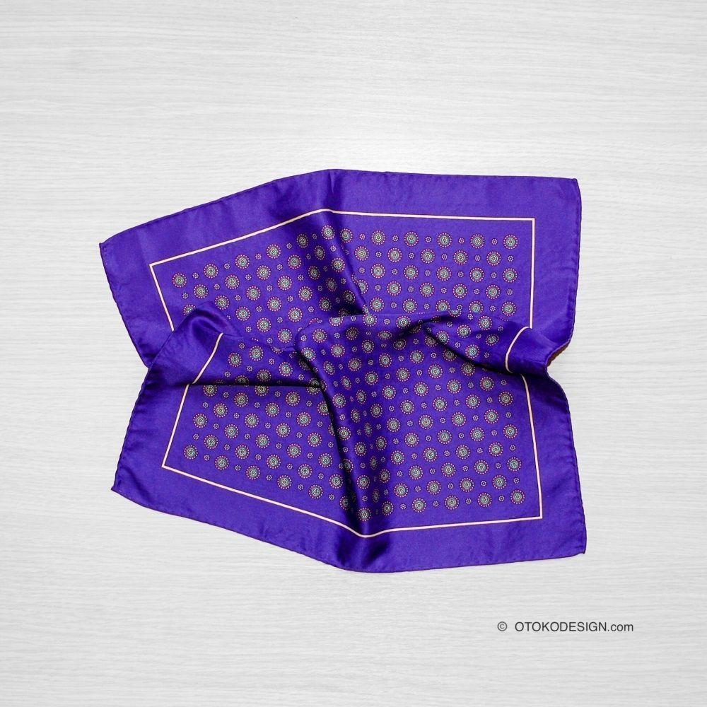 Silk Pocket Square Purple (50932)