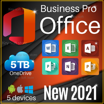 Office 2021 Pro Word Exel Onedrive 5TB / Licence for 5 devieces /  All languages