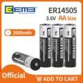 Батарейка аа EEMB ER14505 3,6 V 2600 мА/ч, 100 шт. Li-SOCl2 литий Батарея NON-Перезаряжаемые от производителя, бесплатная доставка