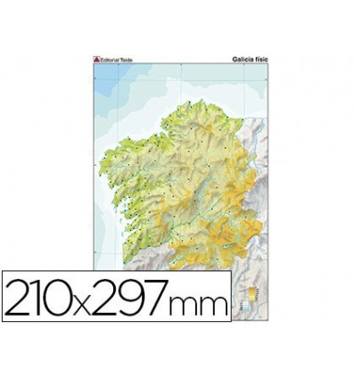 MAP MUTE COLOR DIN A4 Galicia PHYSICAL FITNESS 100 Units