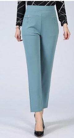 PIL6895 Summer Autumn High Waist Casual Pants A001 Women Elasticity Straight Pants Slim Trousers